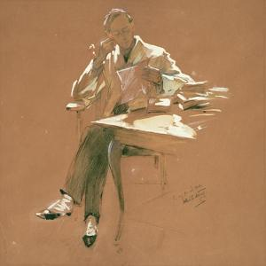 The Professor by Willard Leroy Metcalf