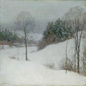 The White Veil, 1909 by Willard Leroy Metcalf