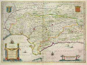 Map of Andalusia, Spain, 1634 by Willem Blaeu