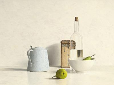 Two Pears, Bottle, Can and Jug by Willem de Bont