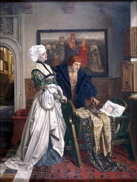 Charles V and Jeanne Vandergeynst at the Cradle of their Daughter Marguerite, 1870 by Willem Geets