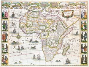 Africa Nova, c.1617 by Willem Janszoon Blaeu
