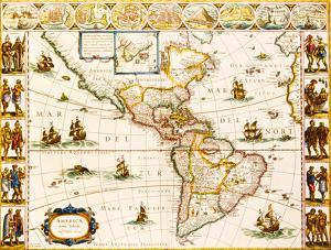 Americae Nova Tabula, 1617 by Willem Janszoon Blaeu