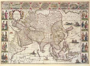 Asia, 1618 by Willem Janszoon Blaeu