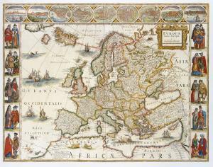 Europa, 1617 by Willem Janszoon Blaeu