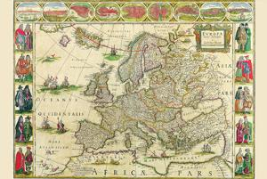 Europe by Willem Janszoon Blaeu