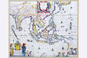 India and Southeast Asia by Willem Janszoon Blaeu