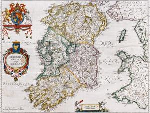 Map of Ireland, 1635 by Willem Janszoon Blaeu