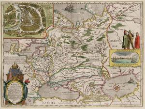 Map of Russia and Moscow (From: Theatrum Orbis Terrarum..), 1645 by Willem Janszoon Blaeu