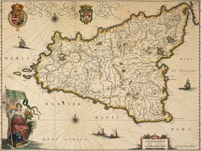 Map of Sicily