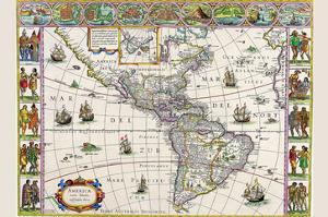 New Map of the Americas by Willem Janszoon Blaeu
