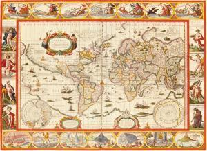 Nove Totius Terrarum Orbis Geographica, 1606 by Willem Janszoon Blaeu