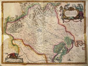Regionum Italiae, Territory of Treviso, Veneto Region, Italy by Willem Janszoon Blaeu