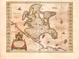 Rügen, 1645 by Willem Janszoon Blaeu