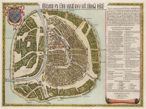 The Moscow Kremlin Map of the 16th Century (Castellum Urbis Moskva), 1662 by Willem Janszoon Blaeu