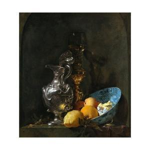 Still Life with Silver Jug by Willem Kalf