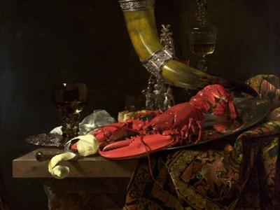 Still Life with the Drinking-Horn of the St. Sebastian Archers' Guild, Lobster and Glasses, C.1653