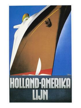 Dutch Travel Poster, 1932 by Willem Ten Broek