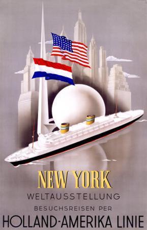 New York to Holland, America Line by Willem Ten Broek