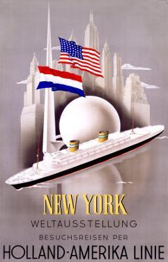 New York to Holland, America Line by Willem Ten Broek