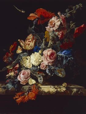 A Vase of Flowers, 1663 by Willem van Aelst
