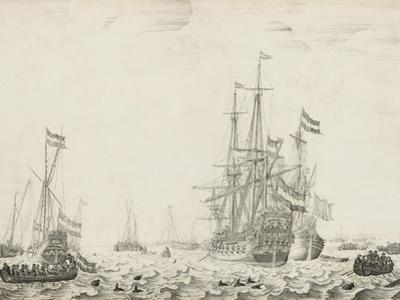 Dutch Ships near the Coast, early 1650s