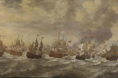 Four Days Naval Battle by Willem van de Velde