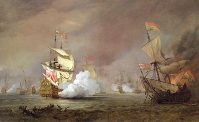 Sea Battle of the Anglo-Dutch Wars, c.1700