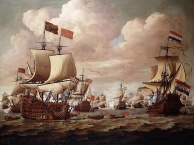The English and Dutch Fleets Exchanging Salutes at Sea with the 'Prince' and the 'Gouden Leeuw'…