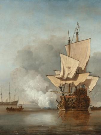 The Cannon Shot, C. 1680 by Willem Van De Velde The Younger