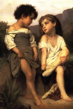 At the Edge of the Brook by William Adolphe Bouguereau