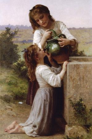 At the Fountain by William Adolphe Bouguereau