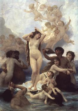 Birth of Venus by William Adolphe Bouguereau