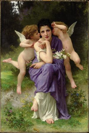 Chansons De Printemps, 1889 by William Adolphe Bouguereau