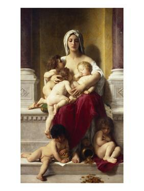 Charity; La Charite by William Adolphe Bouguereau