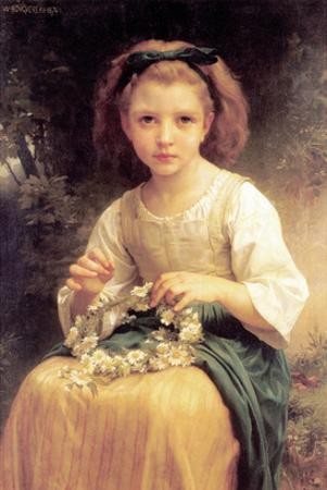 Child Braiding a Crown by William Adolphe Bouguereau