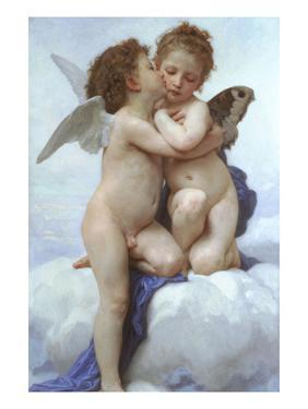 Cupid and Psyche as Infants by William Adolphe Bouguereau