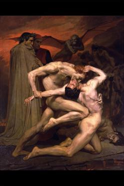 Dante and Virgil in Hell by William Adolphe Bouguereau