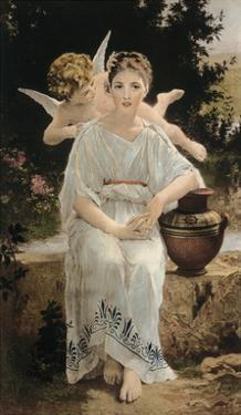 First Whisper Of Love by William Adolphe Bouguereau