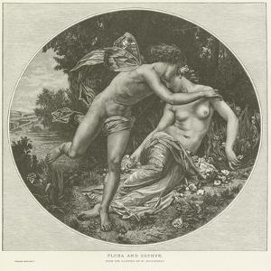Flora and Zephyr by William Adolphe Bouguereau