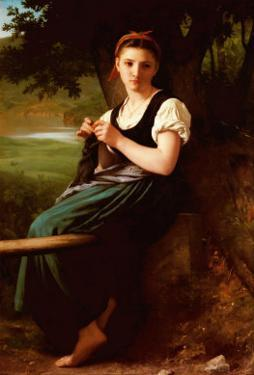 Knitting Girl, 1869 by William Adolphe Bouguereau