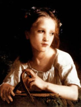 William-Adolphe Bouguereau La Petite Ophelie Art Print Poster