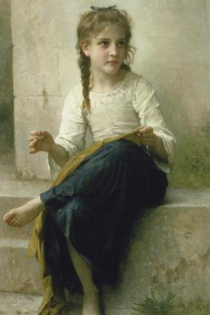 Little Girl Sewing, 1898 by William Adolphe Bouguereau