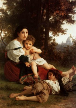 Mother and Children by William Adolphe Bouguereau