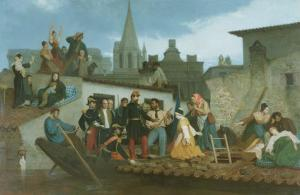 Napoleon III Visiting Flood Victims of Tarascon in June 1856, 1856 by William Adolphe Bouguereau
