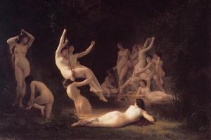 Nyphaeum by William Adolphe Bouguereau