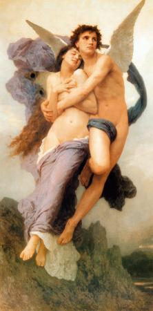 Ravissement de Psyche by William Adolphe Bouguereau