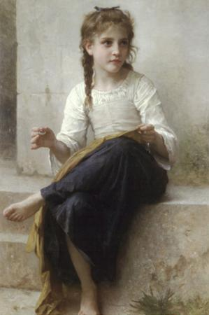 Sewing by William Adolphe Bouguereau