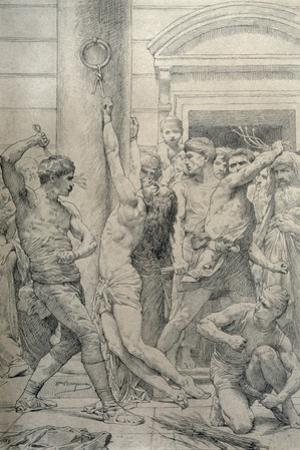 The Flagellation of Christ, C.1881 by William Adolphe Bouguereau
