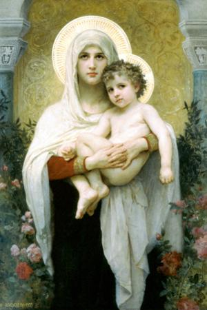 William-Adolphe Bouguereau The Madonna of the Roses